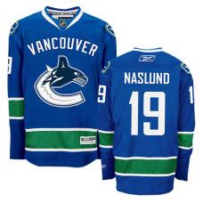 Vancouver Canucks Markus Naslund #19 Navy Blue Home Jersey