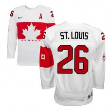 Canada Team Martin St. Louis #26 White Home Premier Olympic Jersey