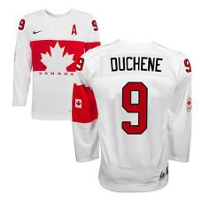 Canada Team Matt Duchene #9 White Home Premier Olympic Jersey