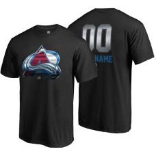 Colorado Avalanche Black Midnight Mascot Custom T-Shirt