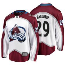 Colorado Avalanche #29 Nathan MacKinnon 2018 Fanatics Branded Breakaway White Away jersey