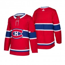 Montreal Canadiens Authentic Blank Home Jersey Red