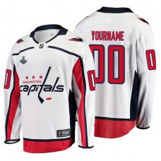 Washington Capitals #00 2018 Stanley Cup Final Bound Breakaway Player Away White Custom Jersey