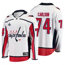 f9c1675ca3c Washington Capitals  74 John Carlson 2018 Stanley Cup Final Bound Breakaway  Player Away White Jersey
