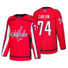34aab55a357 Washington Capitals  74 John Carlson Home Adidas Authentic Player Red jersey