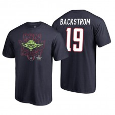 Washington Capitals #19 Nicklas Backstrom Navy 2018 Stanley Cup Playoffs Star Wars Win You Must Adidas T-shirt