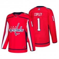 a452dfaa9 Washington Capitals  1 Pheonix Copley Home Adidas Authentic Player Red  jersey