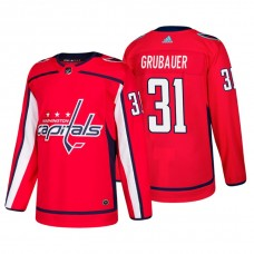 Washington Capitals #31 Philipp Grubauer Home Adidas Authentic Player Red jersey