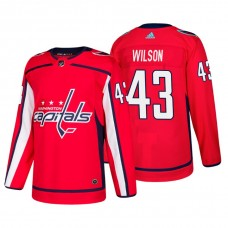 Washington Capitals #43 Tom Wilson Home Adidas Authentic Player Red jersey