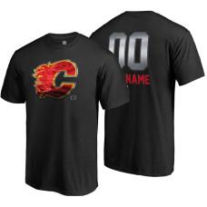 Calgary Flames Black Midnight Mascot Custom T-Shirt