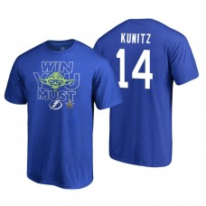 Tampa Bay Lightning #14 Chris Kunitz Royal 2018 Stanley Cup Playoffs Star Wars Win You Must Adidas T-shirt