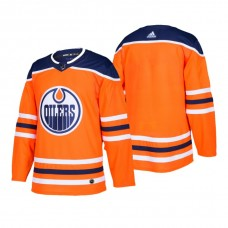 Edmonton Oilers Authentic Blank Home Jersey Orange