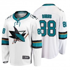 San Jose Sharks #88 Brent Burns Fanatics Branded Breakaway White Away jersey