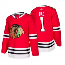 Chicago Blackhawks Father's Day #1 Dad Jersey Red