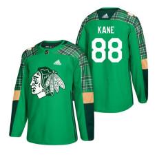 1f405d2d2 Chicago Blackhawks  88 Patrick Kane 2018 St. Patrick s Day Jersey Green