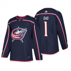 Columbus Blue Jackets Father's Day #1 Dad Jersey Navy