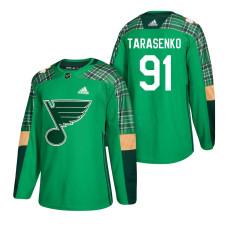St. Louis Blues #91 Vladimir Tarasenko 2018 St. Patrick's Day Jersey Green