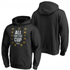 Black 2018 Stanley Cup Bound Behind The Net Pullover Hoodie Boston Bruins