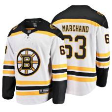Boston Bruins Brad Marchand Fanatics Branded Breakaway White Away Jersey