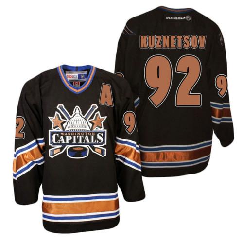 ea533f02 ... discount code for washington capitals 92 evgeny kuznetsov black ccm  vintage hockey jersey 8a0ef 487f2