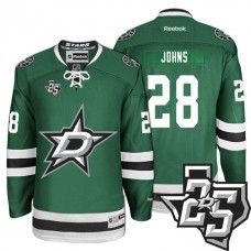 Dallas Stars #28 Stephen Johns Green 1995-2017 25th Anniversary Home Jersey