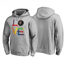 Florida Panthers Heather Gray Hockey Is For Everyone Love Square Pullover Hoodie