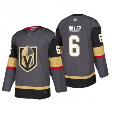 Vegas Golden Knights #6 Colin Miller Home Authentic Player Grey jersey