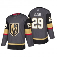 Vegas Golden Knights #29 Marc-Andre Fleury Home Authentic Player Grey jersey
