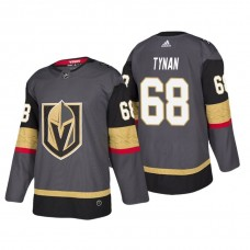 Vegas Golden Knights #68 TJ Tynan Home Authentic Player Grey jersey