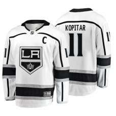 Los Angeles Kings Anze Kopitar Fanatics Branded Breakaway White Away Jersey