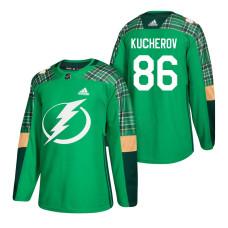 Tampa Bay Lightning #86 Nikita Kucherov 2018 St. Patrick's Day Green Jersey