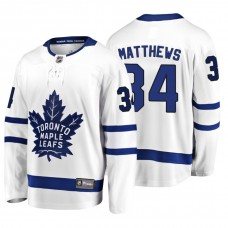 Toronto Maple Leafs #34 Auston Matthews 2018 Fanatics Branded Breakaway White Away jersey