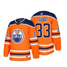 Cam Talbot Edmonton Oilers #33 Orange 2018 New Season Team Home Jersey