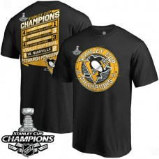 2017 Stanley Cup Champions Pittsburgh Penguins Black Forward T-shirt
