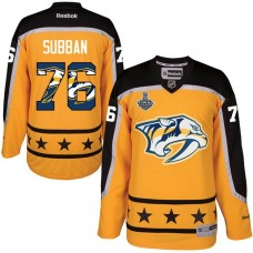 Nashville Predators #76 P.K. Subban Gold 2017 Stanley Cup Final Fashion Hockey Jersey