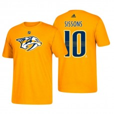 Nashville Predators #10 Colton Sissons Gold T-Shirt Adidas