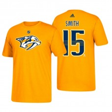 Nashville Predators #15 Craig Smith Gold T-Shirt Adidas
