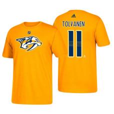Nashville Predators #11 Eeli Tolvanen Gold T-Shirt Adidas