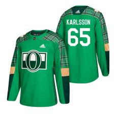 Ottawa Senators #65 Erik Karlsson 2018 St. Patrick's Day Green Jersey