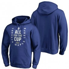 Royal 2018 Stanley Cup Bound Behind The Net Pullover Hoodie Toronto Maple Leafs