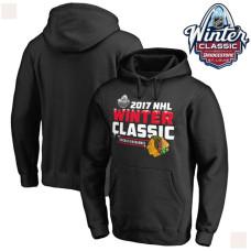 2017 Winter Classic Mens Chicago Blackhawks Black Pullover Hoodie