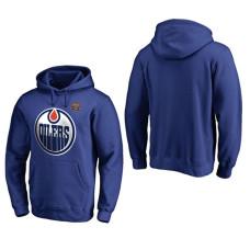 2016 Heritage Classic Edmonton Oilers Royal Pullover Hoodie