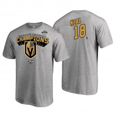 Vegas Golden Knights #18 James Neal 2018 Western Conference Champions Heather Gray T-Shirt