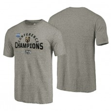 Vegas Golden Knights # 2018 Western Conference Champions Heather Gray Boarding Tri-Blend T-Shirt
