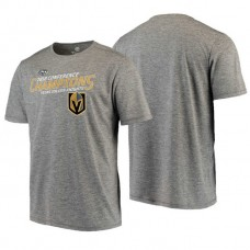 Vegas Golden Knights # 2018 Western Conference Champions Charcoal Game Misconduct Performance T-Shirt