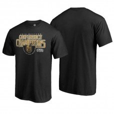 Vegas Golden Knights # 2018 Western Conference Champions Black Interference T-Shirt