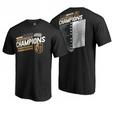 Vegas Golden Knights # 2018 Western Conference Champions Black Shorthanded Roster T-Shirt