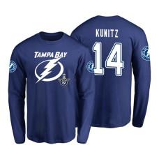 Tampa Bay Lightning #14 Chris Kunitz 2018 Stanley Cup Playoffs Royal Long Sleeve T-Shirt