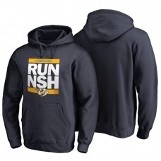 Mens Nashville Predators Navy RUN-CTY Pullover Hoodie