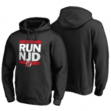 Mens New Jersey Devils Black RUN-CTY Pullover Hoodie